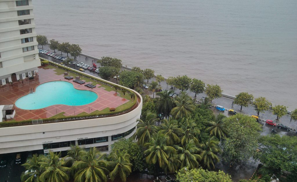 Trident's swimming pool as seen from Express Towers.