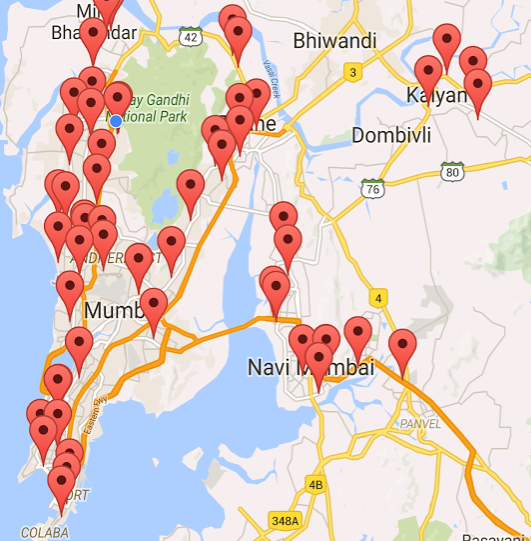 Free WiFi Hotspots in Mumbai. Impressive list to start with.