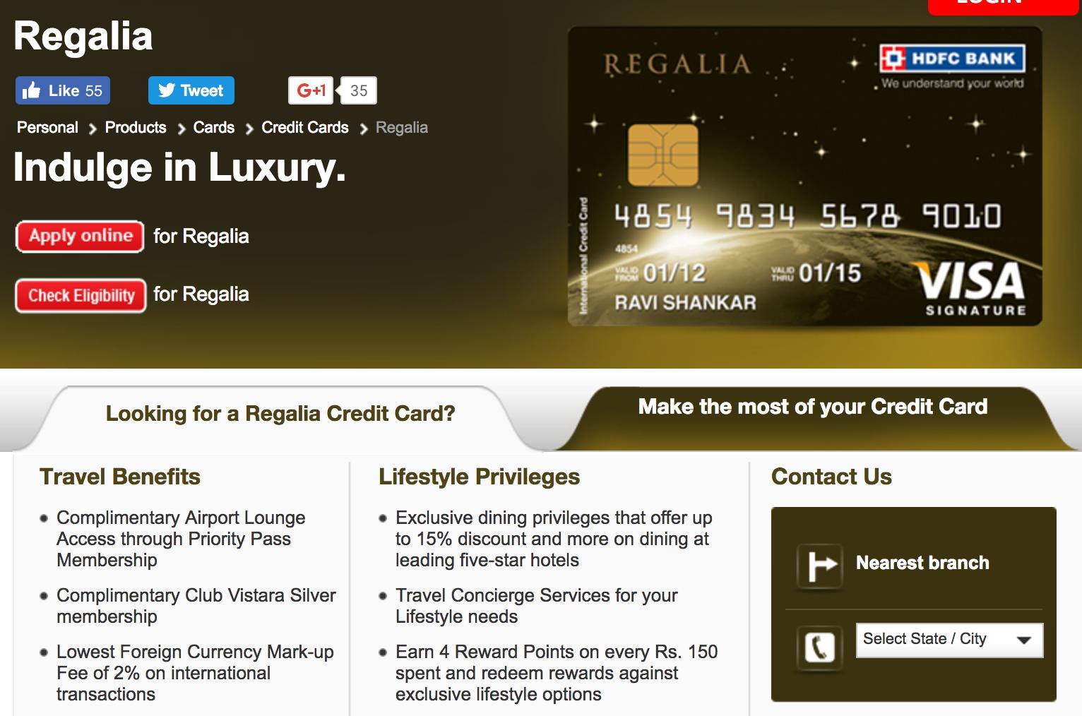 Hdfc regalia forex card login